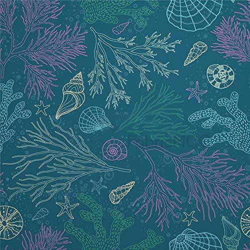 daoyiqi Juego de adhesivos decorativos para azulejos, diseño de árbol de artes visuales, planta de ilustración de 10,4 x 10,4 cm, vinilo impermeable para decoración del hogar