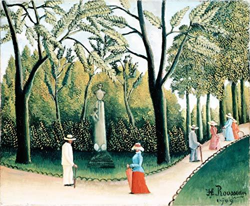 Luxembourg Garden by Henri Julien Rousseau. 100% peint à la main.Huile sur toile. Reproduction de haute qualité. Livraison gratuite (non encadrée et non étirée). Taille de la peinture: 152,4x124.5 cm.