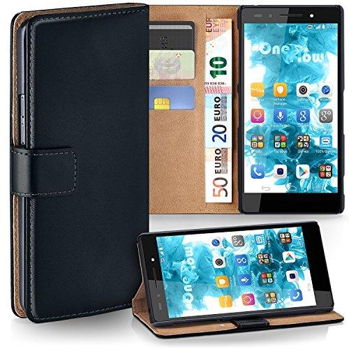 MoEx Premium Book-Case Handytasche kompatibel mit Huawei Honor 7 | Handyhülle mit Kartenfach und Ständer - 360 Grad Schutz Handy Tasche, Schwarz