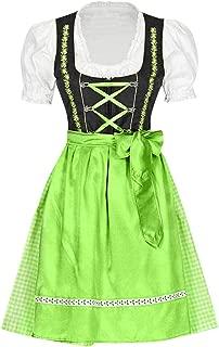 LuminitA Women's German Dirndl Dress Costumes for Bavarian Oktoberfest Carnival Halloween Dresses Apron