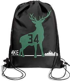 Drawstring Backpack Lightweight Adjustable Goat 34 Basketball Player Gym Sack Bag