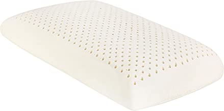 TAIHI Thailand Natural Latex Pillow, Firm Sleeping Foam, Cervical Spine Care, Reduce Snoring, Relieve Neck Should Pain, Luxurious Washable Cotton Cover, Excellent Ventilation, Eco-Institute Certified