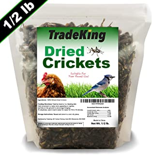TradeKing Natural Dried Crickets – Food for Bearded Dragons, Wild Birds, Chicken,..