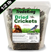 TradeKing Natural Dried Crickets - Food for Bearded Dragons, Wild Birds, Chicken, Fish, Reptiles - (8 oz Resealable Bag) -...