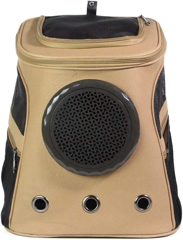 Pet Online Pet out backpack, canvas, breathable cat carrier, 38×29×45cm, brown