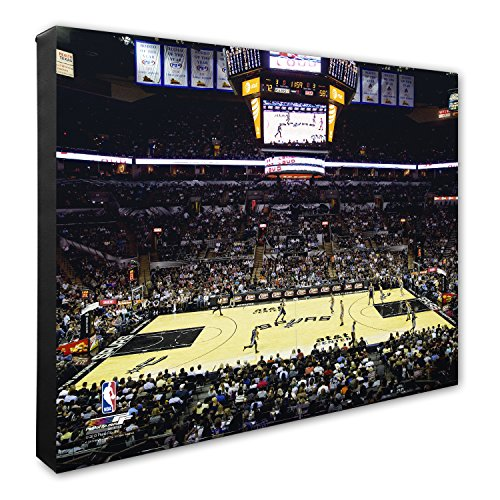 Photo File NBA San Antonio Spurs AT&T Center Basketball Arena Canvas Artwork, 16
