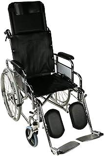 Mobiclinic, Obelisco, Silla de ruedas ortopédica, autopropulsable, plegable, para ancianos y minusválidos, freno en maneta...