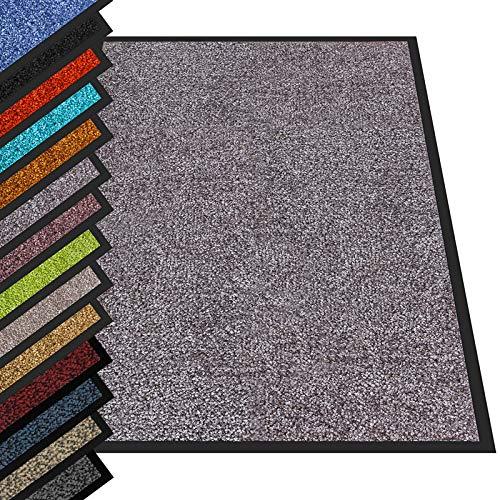 etm® Schmutzfangmatte - Fußmatte in vielen Größen - Türmatte Fußabstreifer für Haustür innen und außen (Grau, 1200x180 cm)