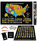 Scratch Off Map of United States + ALL 63 US...