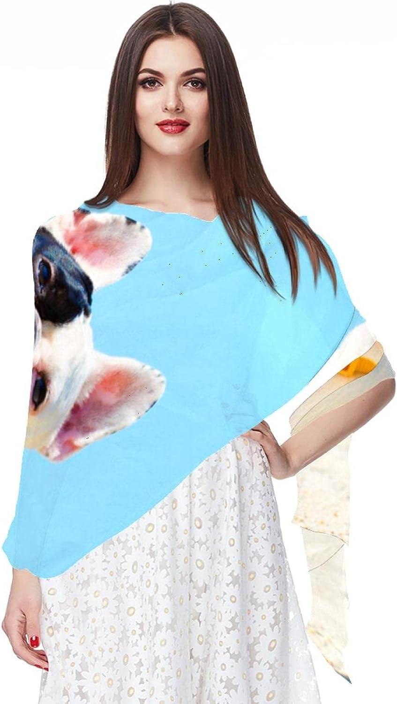 Scarfs for Women Lightweight Print Floral Pattern Scarf Shawl Fashion Scarves Sunscreen Shawls, Dog Beach Sea