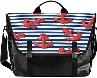Bolso de lona para hombre y mujer, diseño de rayas, color rojo, color azul