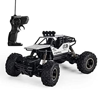 RC Car Off-Road Rock Crawler Truck Vehicle RC Truck High Speed Remote Control Car 2.4Ghz Off Road RC Trucks Electric Toy Car for All Adults and Kids(Silver)