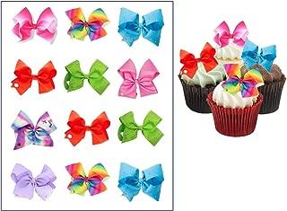 EDIBLE Jojo Siwa Bows ~ Cupcake Topper ~ Edible Frosting Image ~ Wafer Paper ~ Rice Paper Jojo Siwa cupcake toppers ~ Party Supplies