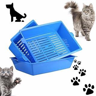 Delicieux 1 PC Cat Bedpans Semi Closed Anti Splash Cat Toilet Cat Litter Box Plastic  Bedpan