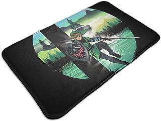 HUTTGIGH Smashbros Zelda - Felpudo antideslizante para puerta de entrada de baño, cocina, alfombra de 19.5 x 31.5 pulgadas...