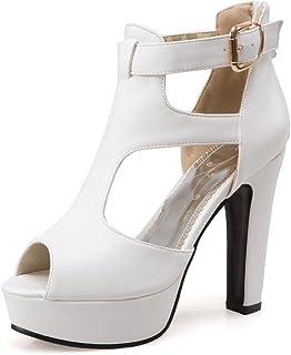 5af2550fc Susanny Platform Sandals for Women High Heels Strappy Peep Toe Sandal  Summer Boots Office Pumps