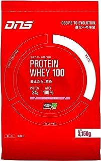 DNS ホエイプロテイン ホエイ100 いちごミルク風味 3150g (約90回分) 水で飲める プロテイン WPC ホエイたんぱく質 筋トレ 大容量 1 袋