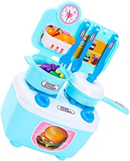 Fiudx Children's Gifts Birthday Toys Children Gift Play Kitchen Set Kids Pretend Toy Cooking Food Toys Educational (A)