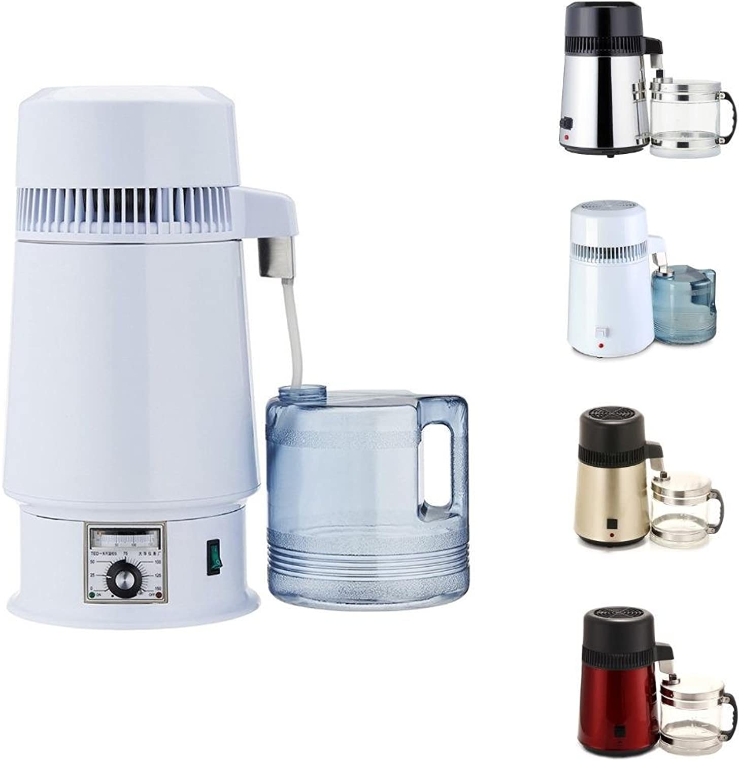 Home 110V   220V 750W 304 Stainless Steel Water Purifier Distillation 4L Pure Water Maker Distiller Set with Connection Bottle, Also can Make Essential Oil