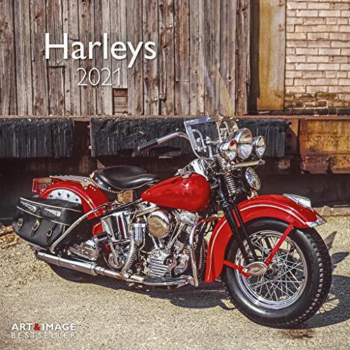 Harleys 2021 - Wand-Kalender - Broschüren-Kalender - A&I - 30x30 - 30x60 geöffnet