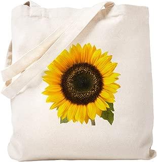 CafePress Sunflower Natural Canvas Tote Bag, Reusable Shopping Bag
