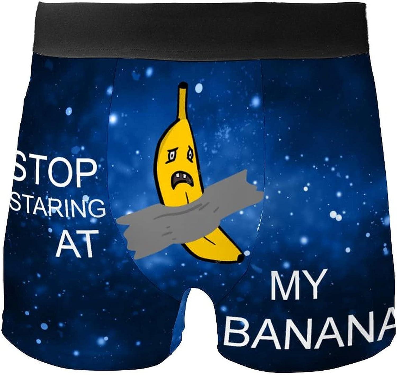 Angry Banana Stop Staring at My Banana Boxer Shorts Sarcastic Underwear
