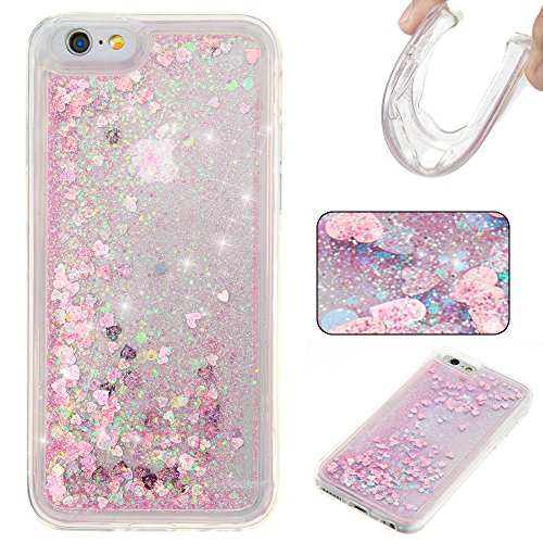 Nutbro iPhone 5SE TPU Liquid Case, iPhone 5S Quicksand Case Flowing Quicksand Liquid Floating Luxury Bling Glitter Sparkle Diamond Soft Cover for iPhone 5S / 5SE