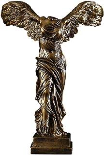 IMIKEYA サモトラケのニケの女神の彫刻レジンテーブルコレクタブルアートフィギュアモデル古代遺跡ルーヴル美術館27.5X10x38。 5Cm