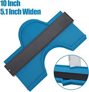 Widen Contour Duplications Gauge - 10 InchProfile Gauge Duplicator - Precisely Copy Irregular Shapes Wood Template Measuring Tool for Perfect Fit and Easy Cutting (5.1 Inch Widen, Blue)