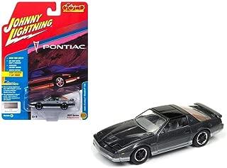 Johnny Lightning JLCG011B 1985 Pontiac Firebird Trans Am Medium Gray Poly with Silver Classic Gold Limited Edition to 1800pc Worldwide Hobby Exclusive 1/64 Diecast Model Car