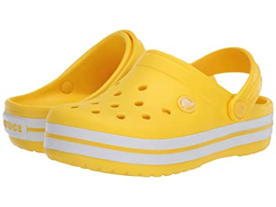 Crocs Kids Crocband Clog (Toddler/Little Kid) (Lemon) Kids Shoes