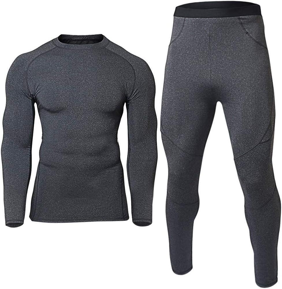Mens Thermal Underwear Sets Base Layer Warm Top & Bottom Compression Winter Ultra Soft Gear Sport Long Johns Set for Men