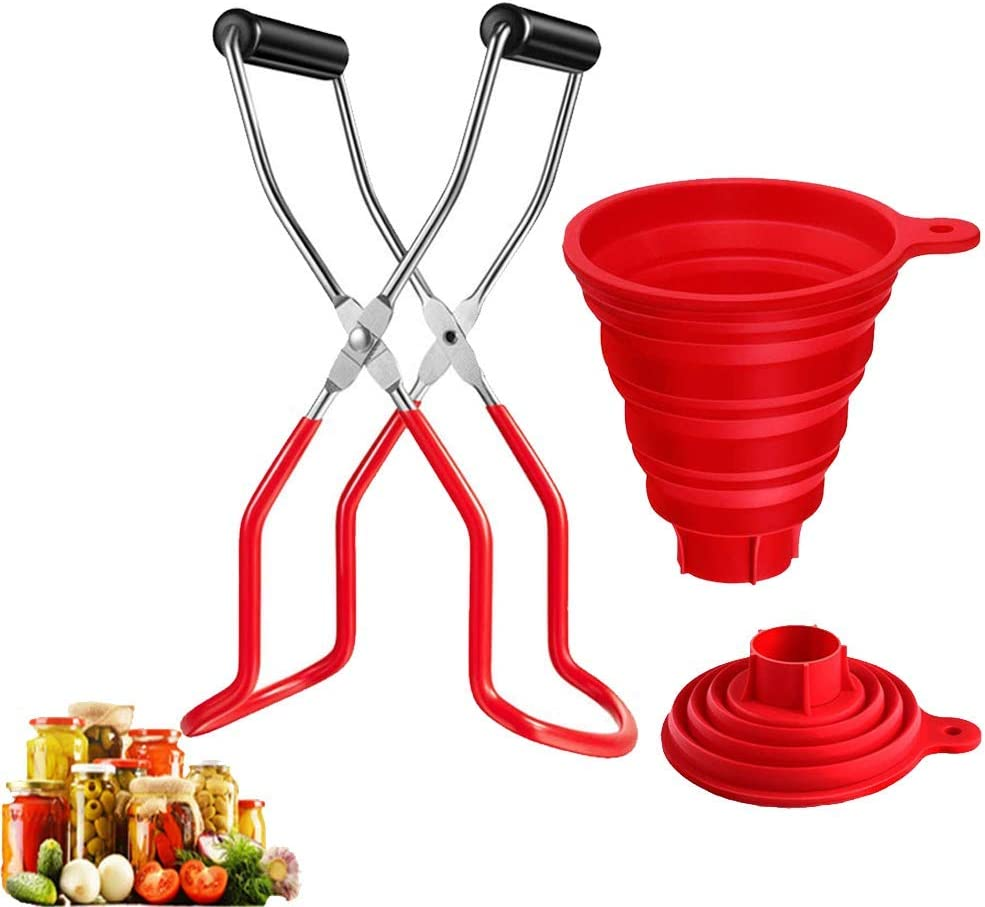 Canning tongs Stainless Steel Cheap SALE Start Jar Raleigh Mall Lifter and Co Silicone