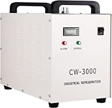 Mophorn Water Chiller 9L Capacity Industrial Water Chiller CW-3000DG Thermolysis Type Industrial Water Cooling Chiller for 60W 80W Laser Engraving Machine(CW-3000DG)