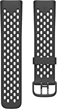 Fitbit Charge 5 Sport Accessory Band, Official Fitbit Product, Black, Small