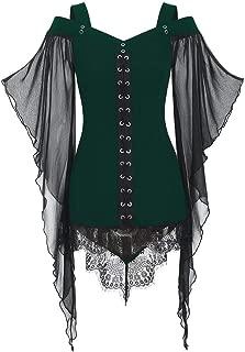 ◆◇ HebeTop◇◆ Fashion Women Tunic Tops Tee Blouse Shirt Hallmark Casual Off Shoulder Rock Gothic Sling Lace