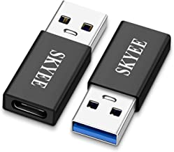 Skyee 2 Unidades Adaptador USB Tipo C, USB-C Hembra a Tipo A USB 3.0 Macho Adaptador, USB 3.1 Tipo C Adaptador pour Carga o la Transferencia de Datos- Negro