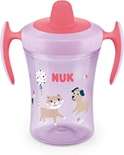 NUK Evolution Learner Sippy Cup, Pink, 8oz 1pk