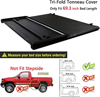 RAFTUDRIVE Assembly Lock Tri-Fold Tonneau Cover fit 2015-2018 Silverado/Sierra 5.8 ft (69.3 inch) Bed, Not Fit 6 Ft Bed and 8 Ft Bed