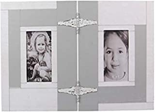 """Young's Inc Wood Double 4""""X6"""" Photo Frame, Multi"""