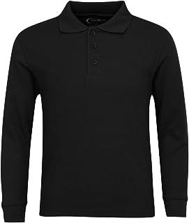 Premium Men's Long Sleeve Polo Shirts – Stain Guard Polo Shirts for Men
