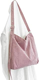 Elonglin Women's Handbag Large Totes Canvas Bags Shoulder Shopping Bags Hobo Travel Beach Bags Pink