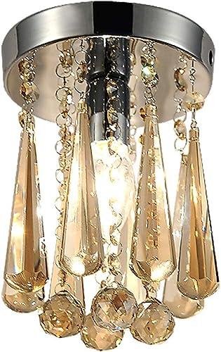 Cristal De Lampe De Plafond LED Encastrable Moderne Suspension Lumière Nordic Indoor pendentife Plafonnier pour Le Salon Chambre Restaurant 1 Ampoules E14 Requises H8.66 X D5.9