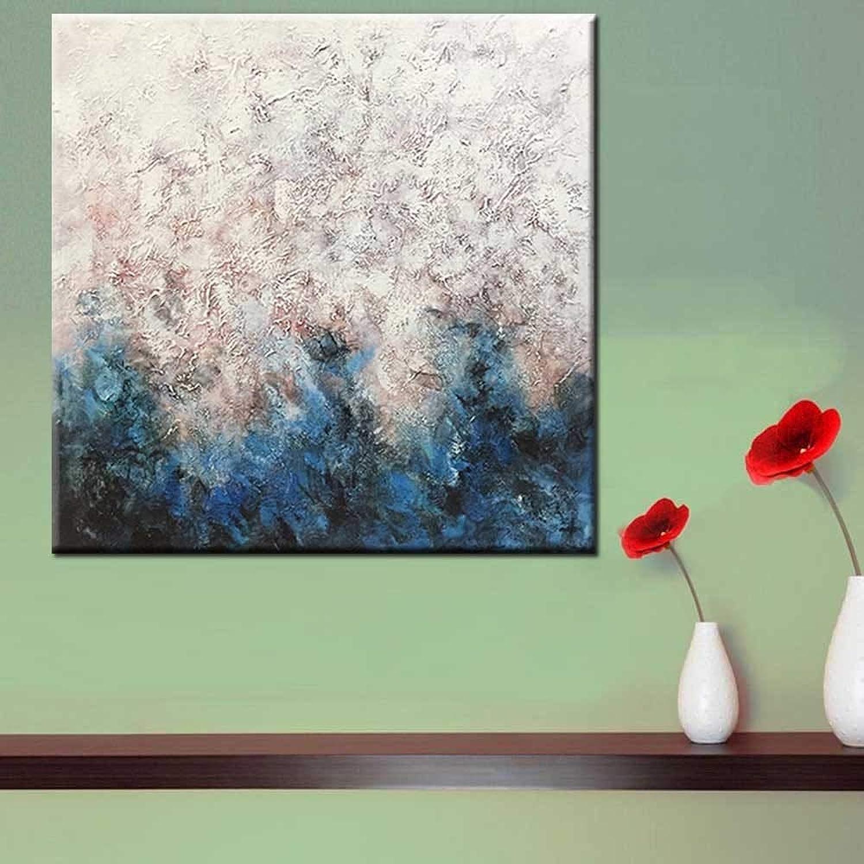 venta caliente en línea QZHS Pintura al al al óleo pintada a mano Dibujado A Mano Pintura Al óleo Abstracta Moderna En Arte De La Imagen De Parojo Azul para Sala De Estar Decoración De La Parojo Pintura, 30X30  se descuenta
