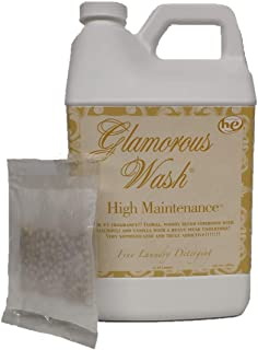 Tyler Candle Glamorous Wash High Maintenance Half Gallon (64 OZ) Laundry Detergent with Glamorous Sachet Single Pouch