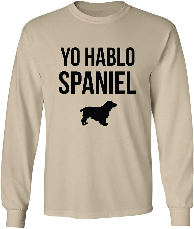 Yo Hablo Spaniel Adult Long Sleeve T-Shirt in Sand - XXXX-Large