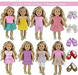 ZITA ELEMENT Puppenkleidung Sommerkleid Set für 40cm-46cm Puppen und 16-18 Zoll Americal Girl Dolls...