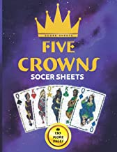 5 Crowns Score Sheets: 130 Large 5 Crowns Score Pages for Scorekeeping for 5 Crowns Lovers | 5 Crowns Game Kit Book | Scor...