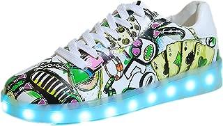 LED Light Unisex Kids Child Boys Girls Sport Sneakers Cute Design Luminous Flashing Shoes