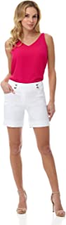 Women's Ease into Comfort 6 inch Cuffed Short with Button Detail